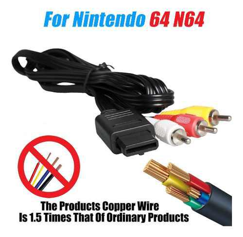 Rca cable video audio av n64 gamecube snes super nintendo