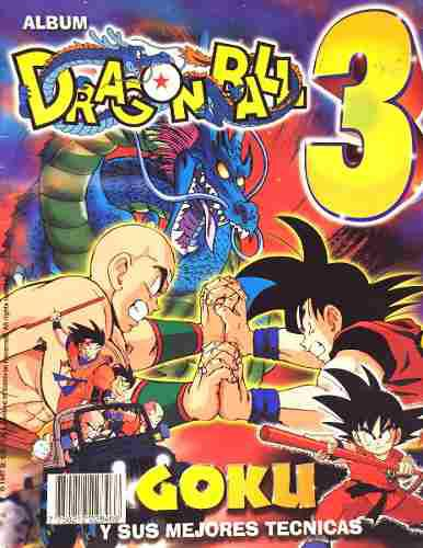 Dragon ball 3 album con varias estampas