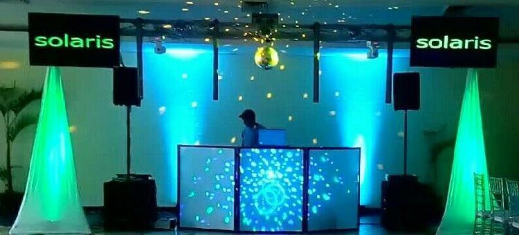 Solaris luz y sonido. paquete #2 disco con 2 pantallas leds