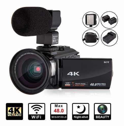 Videocamara digital 4k 48mp 16x 60 fps wifi 3.0 y microfono