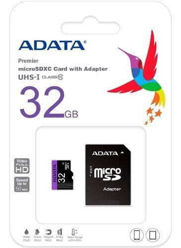 Memoria Micro Sdxc 32gb Adata Clase 10 Ausdh32guicl10-ra1