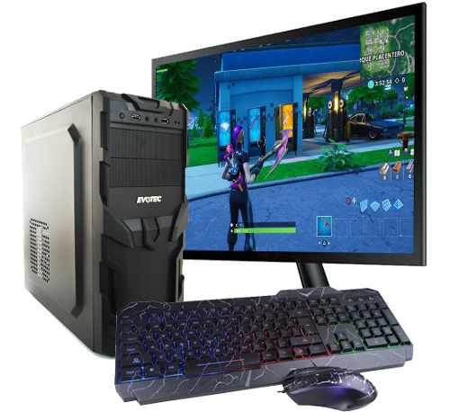 Pc gamer amd ryzen 3 8gb ssd 240gb monitor 21.5 kit iluminad