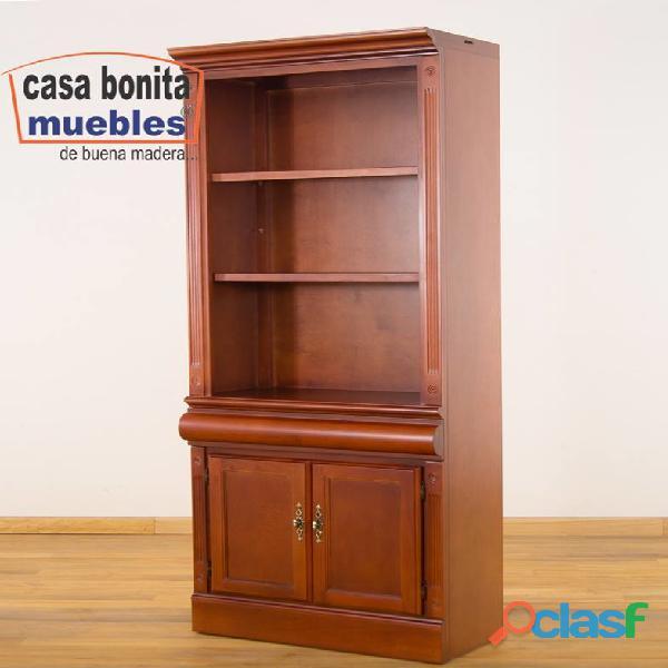 Librero sencillo prometeo de madera casa bonita muebles