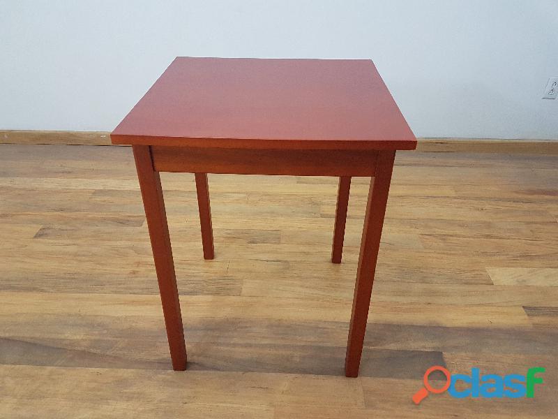 Mesa cuadrada 70cm desarmable casa bonita muebles