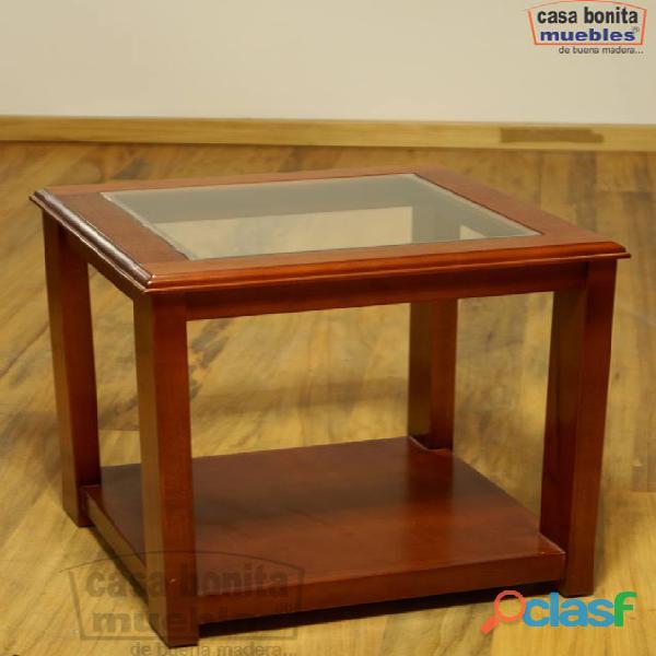 Mesa lateral acuario de madera casa bonita muebles