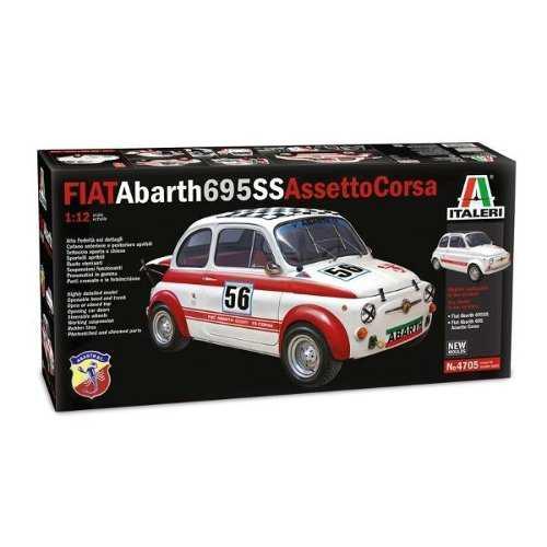 Auto fiat abarth 695ss assetto corsa escala 1:12 4705