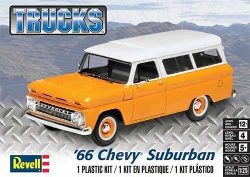 Auto revell escala 1/25 1966 chevy suburban 14409 modelismo
