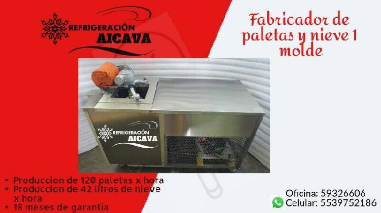 Fabricador de paletas y nieve 1 molde con mesa de trabajo