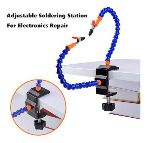 Multi-función de dos brazo ajustable estación de soldadura