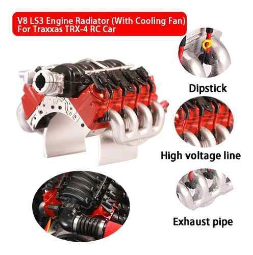 Radiador de motor v8 ls3 (con ventilador de refrigeración)