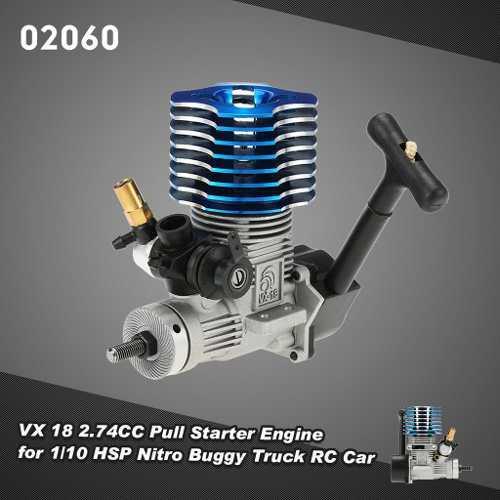 Rc 02060 vx 18 2.74cc pull motor de arranque para 1/10 hsp n