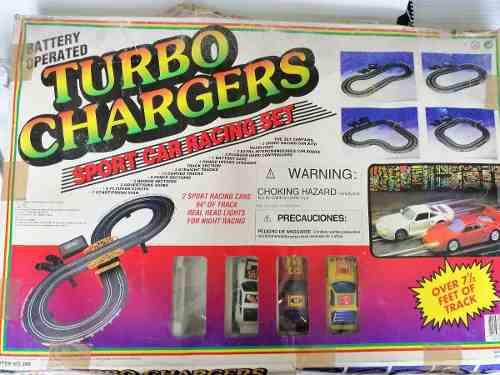 Slot modelismo turbo chargers pista eléctrica vintage