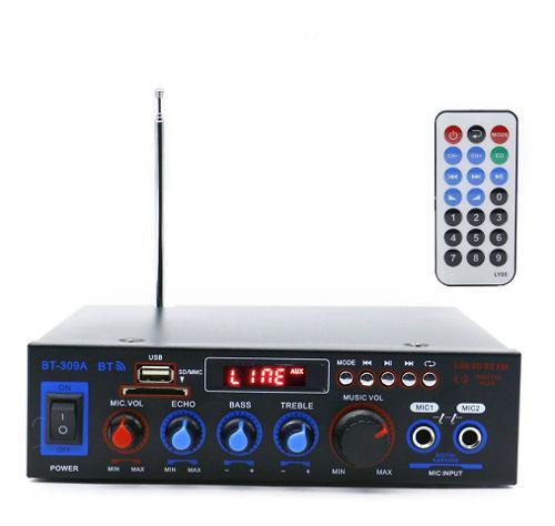 12v / 220v mini audio amplificador de potencia bt digital au