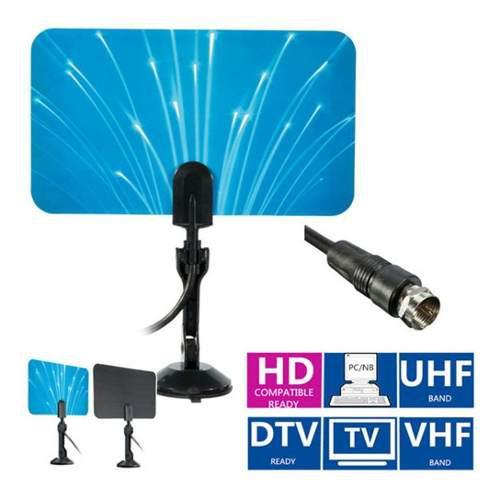 Antena de tv digital interior hdtv dtv box ready hd vhf uhf