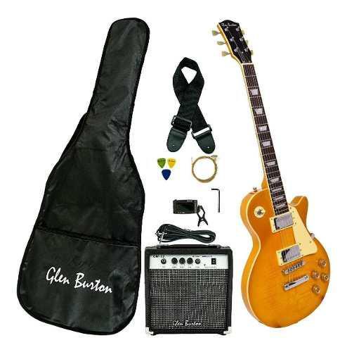 Guitarra eléctrica glen burton ge56bco musical + accesorios