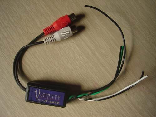 Lote 50 pzas audio car convertidor hi/low altas bajas