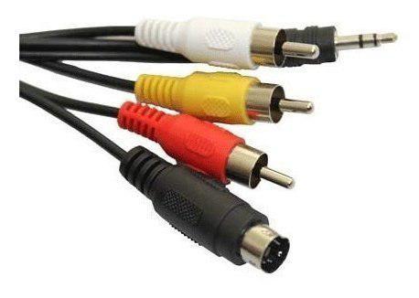 Luckytech 6 ft svideo aux 35mm audio a 3rca cable de video c