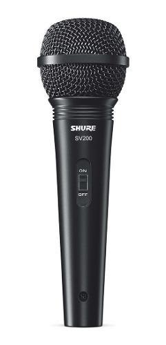 Microfono shure sv200 bobina movil con cable envio gratis !