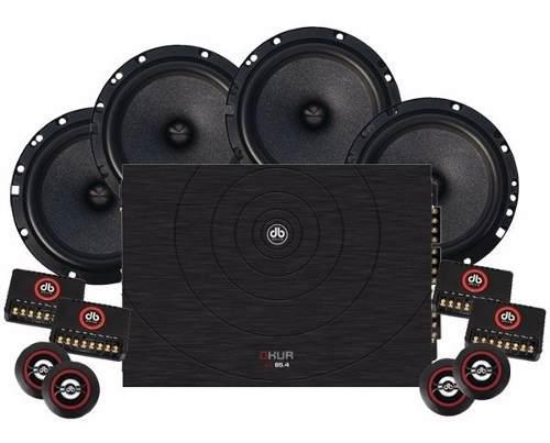 Paquete db drive amplificador 4 ch + 2 set d medios 6.5 pulg
