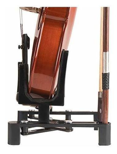 Soporte para instrumentos musicales con soporte para violín