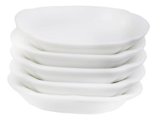 1/12 casa de muñecas en miniatura 5pcs platos de cerámica