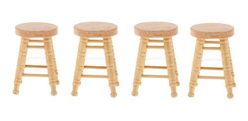 1/12 casa de muñecas miniaturas muebles diy mini taburete