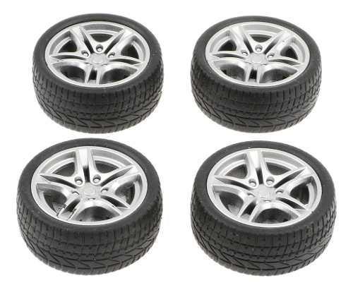 4 pedazos escala 1: 10 miniatura llantas neumáticos de goma