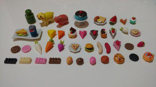 49 miniaturas comida y platos para barbie o casa de muñecas