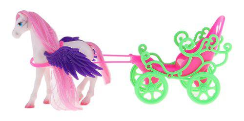 Caballo de carruaje de pegaso plástico miniatura con ala
