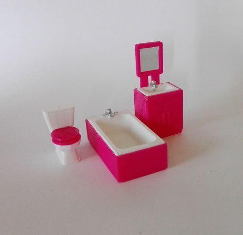 Cuarto de baño miniatura para maquetas o muñecas-escala
