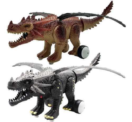 Dragon dinosaur control recarga juguete luz sonido humo 0838