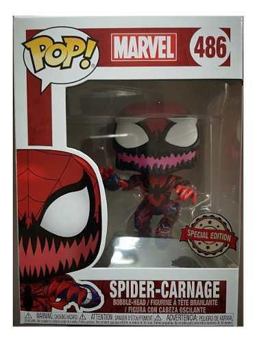 Funko pop spider carnage edicion especial 486 figura nueva