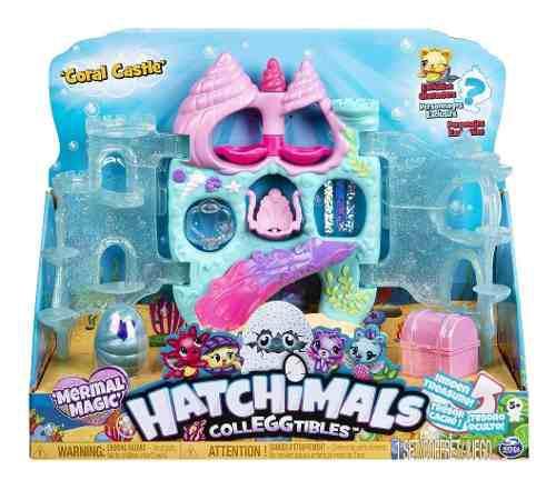 Hatchimals colleggtibles castillo coral mermals 2 figuras