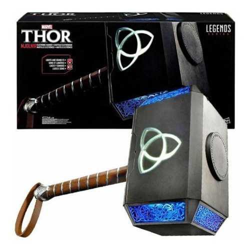 Marvel legends series mjolnir martillo thor electrónico