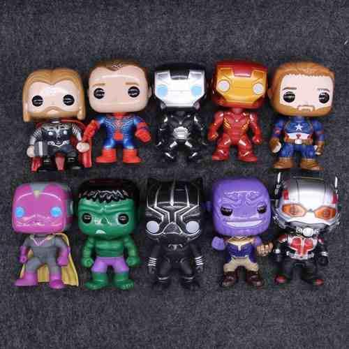 Marvel y dc figuras coleccionables iron hulk batman aquamam