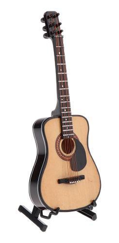 Modelo de guitarra de madera en miniatura a escala de 1/6,