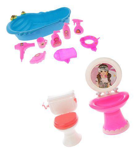 Modelo muebls de baño miniatura bañera adornos para casa