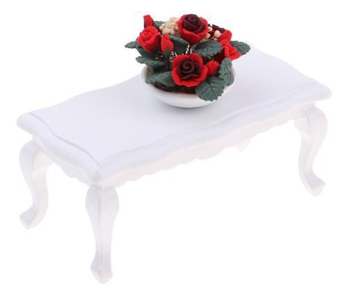 Muebles en miniatura para sala de muñecas escala 1/12 color