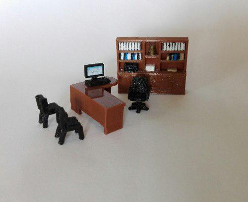 Oficina/estudio miniatura maquetas-casa muñecas esc. 1:50
