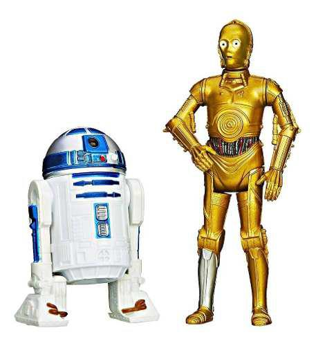 R2 d2 c3po star wars vintage figuras 3.75 episode iv mission