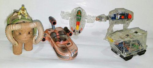 Star wars lote de mini naves y bantha excelentes condiciones