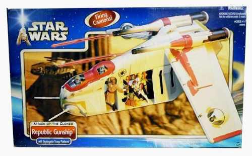 Star wars republic gunship aotc 2002 saga completa hasbro