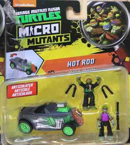 Tortugas ninja micro mutants carros, leonardo, precio c/u