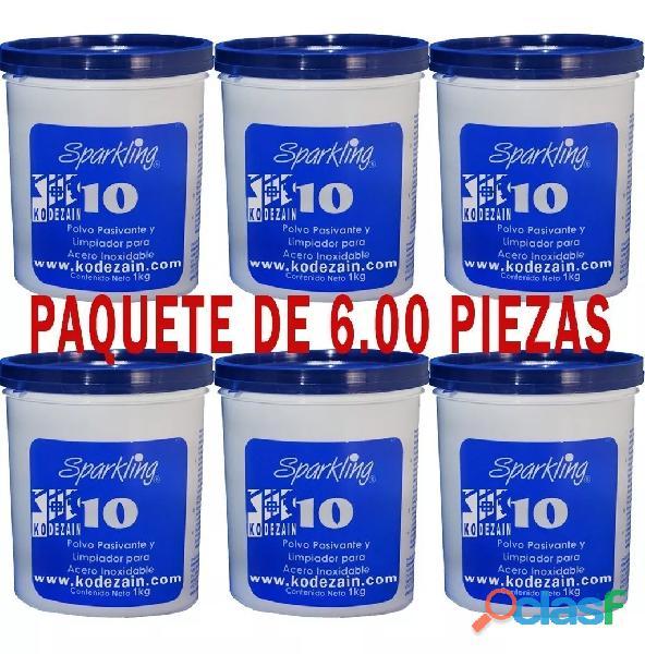 SPARKLING 10 PAQUETE DE 6 PIEZAS CON ENVIO INCLUIDO