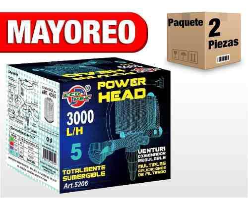 2 cabezas de poder 3000 l/h sumergible 200-300 art147