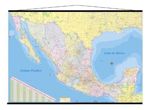 2 Mapa Mexico Mural Republica Mexicana 180cm X 125 Cm