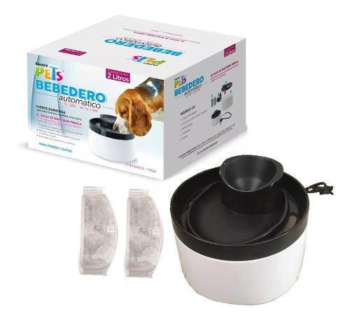 Bebedero automático perro o gato fuente de agua 2l