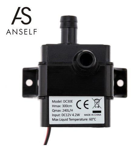 Bomba de agua anself pequeña cc12v ultrasilenciosa s/escob.