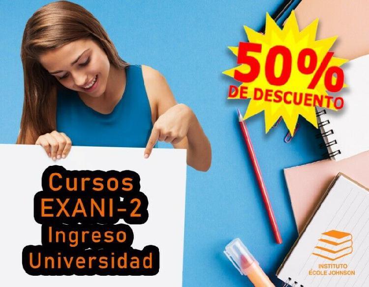 Cursos exani-2 ingreso universidad-mérida, yucatán