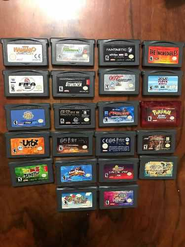 Lote 22 juegos gba originales game boy advance